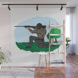 Sniper Paint Wall Mural