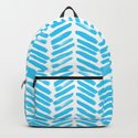 Simple Aqua and white handrawn chevron - horizontal - for your summer on #Society6 by simplicity_of_live