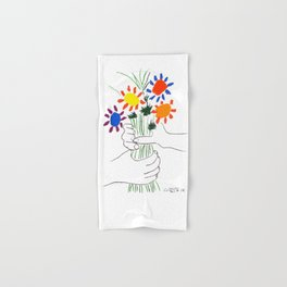 Pablo Picasso Bouquet Of Peace 1958 (Flowers Bouquet With Hands), T Shirt, Artwork Hand & Bath Towel