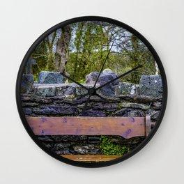 Cemetery Bench Wall Clock