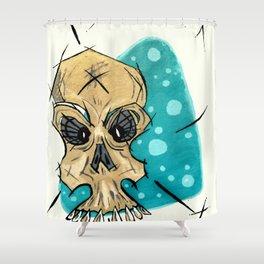 Retro Skull and Polka Dots Shower Curtain