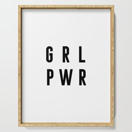 Girl Power Poster, Gift For Woman, Gift For her, Home Decor, Birthday Gift Serving Tray
