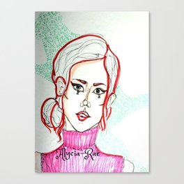 Pink Turtle Neck Canvas Print
