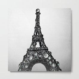 Eyefull Tower Black and White Metal Print
