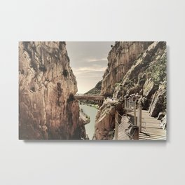 """The most dangerous trail in the world II"". El Caminito del Rey  Metal Print"