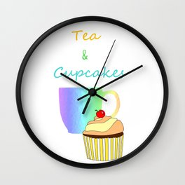Tea Break And Cupcakes Wall Clock