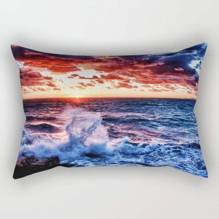 SuNset Waters Rectangular Pillow