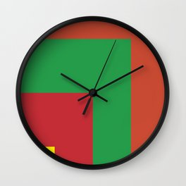 Very squared and precise and rectangular. Very very angular crafted shapes. Nothing else to say. Wall Clock