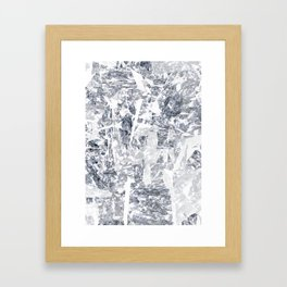 Mountain diamond Framed Art Print
