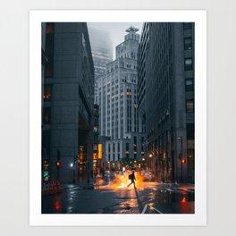 Backlit Crosswalk Art Print