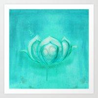 yoga Art Prints featuring Yoga by SannArt