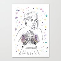 lungs Canvas Prints featuring Lungs by Sarah Hartnell