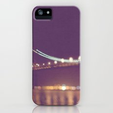 Let's go for a walk. San Francisco Bay bridge night photograph. Slim Case iPhone (5, 5s)