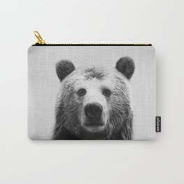 Bear - Black & White Carry-All Pouch