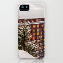 Mountain architecture colorful iPhone Case