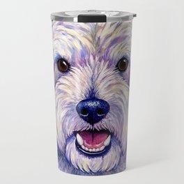 Colorful West Highland White Terrier Dog Travel Mug