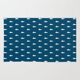 Tiny Subs - Navy Rug