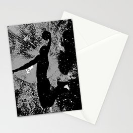 SLAM DUNK IN BLACK AND WHITE Stationery Cards