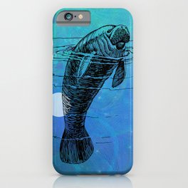Manatee Fun iPhone Case
