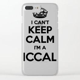 I cant keep calm I am a MCCALL Clear iPhone Case