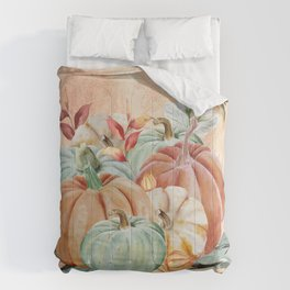 Watercolor Pumpkin Collection: Fall Harvest Comforters