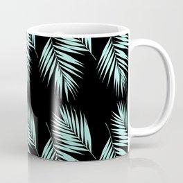 Palm Leaves Pattern #2 #Mint #Black #decor #art #society6 Coffee Mug