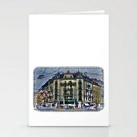 switzerland Stationery Cards featuring Geneva -  Switzerland by Vehen§Nes