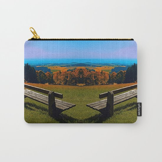 Summertime scenery and the bench to watch it Carry-All Pouch