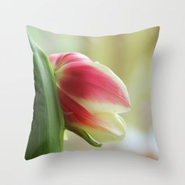 Tired Tulip II Throw Pillow