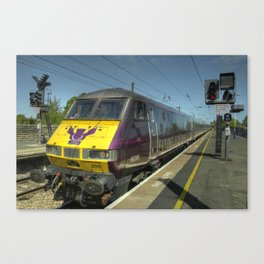 Flying Scotsman at Morpeth  Canvas Print