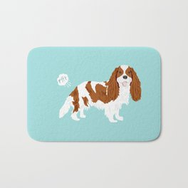 Cavalier King Charles Spaniel blenheim funny farting dog breed gifts Bath Mat