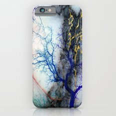 Marble through Tree Branches Red Gold Blue Violet Purple Cyan iPhone 6 Slim Case