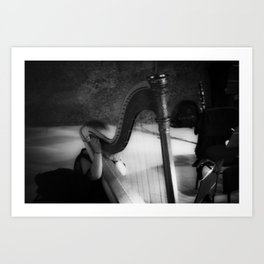 The harp waiting to be played Art Print