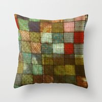 blanket Throw Pillows featuring Blanket by Lyssia Merrifield
