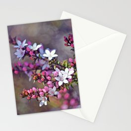 Australian Box Leaf Waxflowers Stationery Cards