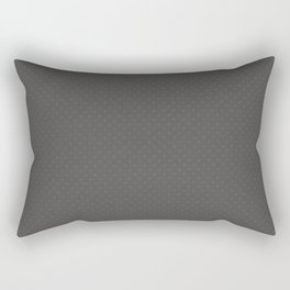 Pantone Pewter Gray Tiny Polka Dots Symmetrical Pattern Solid Color Rectangular Pillow