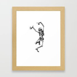 DANCING SKULL Framed Art Print
