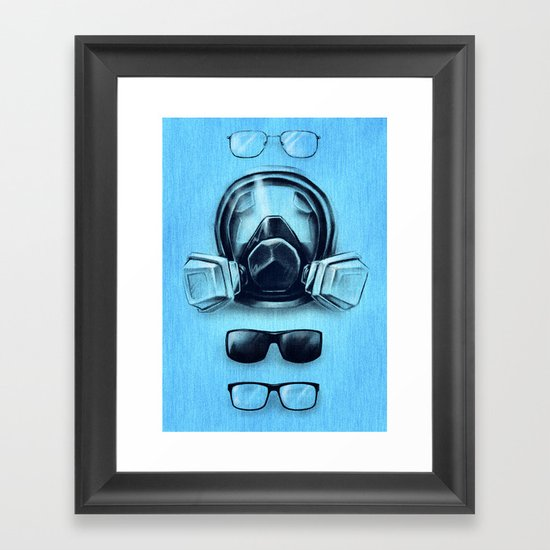 All I See Is Blue Framed Art Print