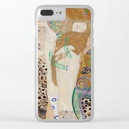 Gustav Klimt - Friends .Water Serpents Clear iPhone Case