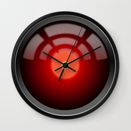 2001: A Space Odyssey - HAL 9000 (1968) Wall Clock