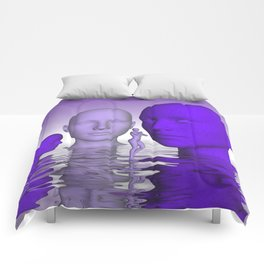 violet scifi world Comforters