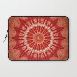 Dark Orange Mandala Design Laptop Sleeve