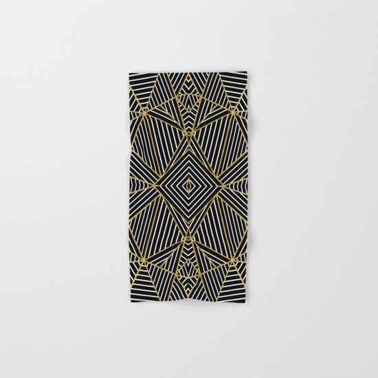 Ab Half Gold Hand & Bath Towel