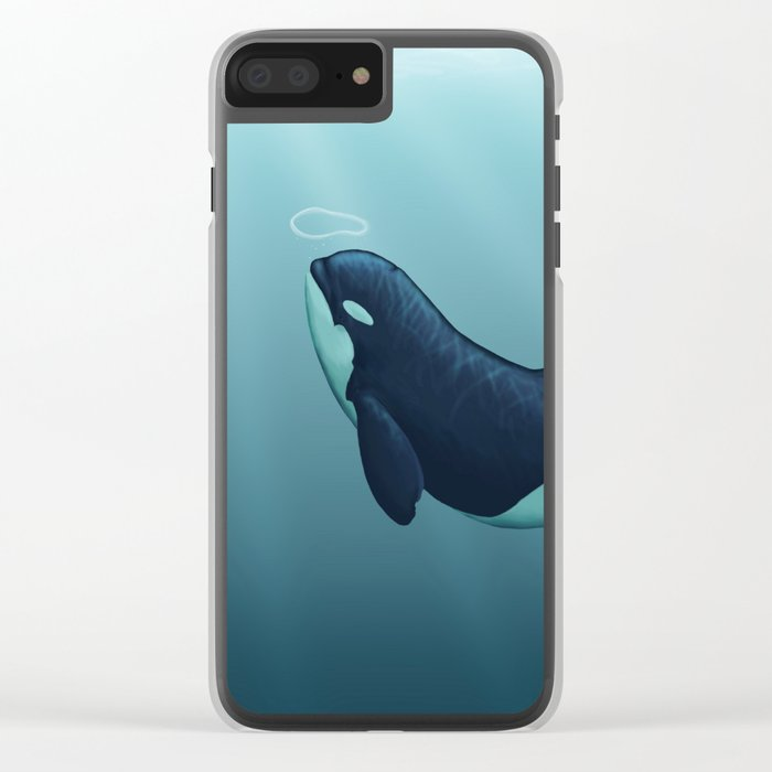 """""""Subantarctic"""" by Amber Marine ~ Type D Orca, Art (Copyright 2014) Clear iPhone Case"""