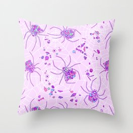 Sugar Spiders Throw Pillow