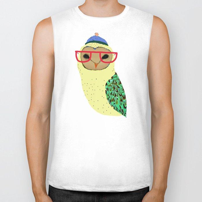 I Love Owls Biker Tank