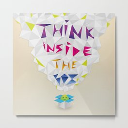 Think inside the box Metal Print