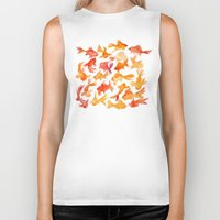 goldfish Biker Tanks featuring Goldfish by Cat Coquillette