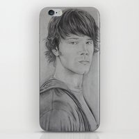 sam winchester iPhone & iPod Skins featuring Sam Winchester by Brooke Shane