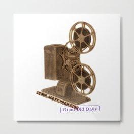 vintage projector Metal Print